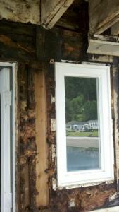 Rot around bath windows