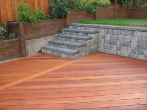 Deck, Stairs, & Retaining Wall